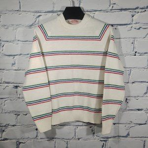 VTG 80s Knit Sweater, Primary Color Stripes, Stranger Things That 70s Show Vibes